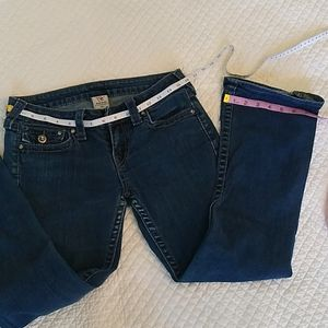 True Religion Jeans flared, 27 by 27 low rise